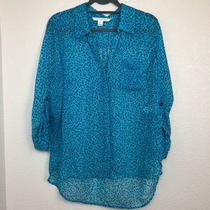 Diane von furstenburg Lorelei 100% silk button top